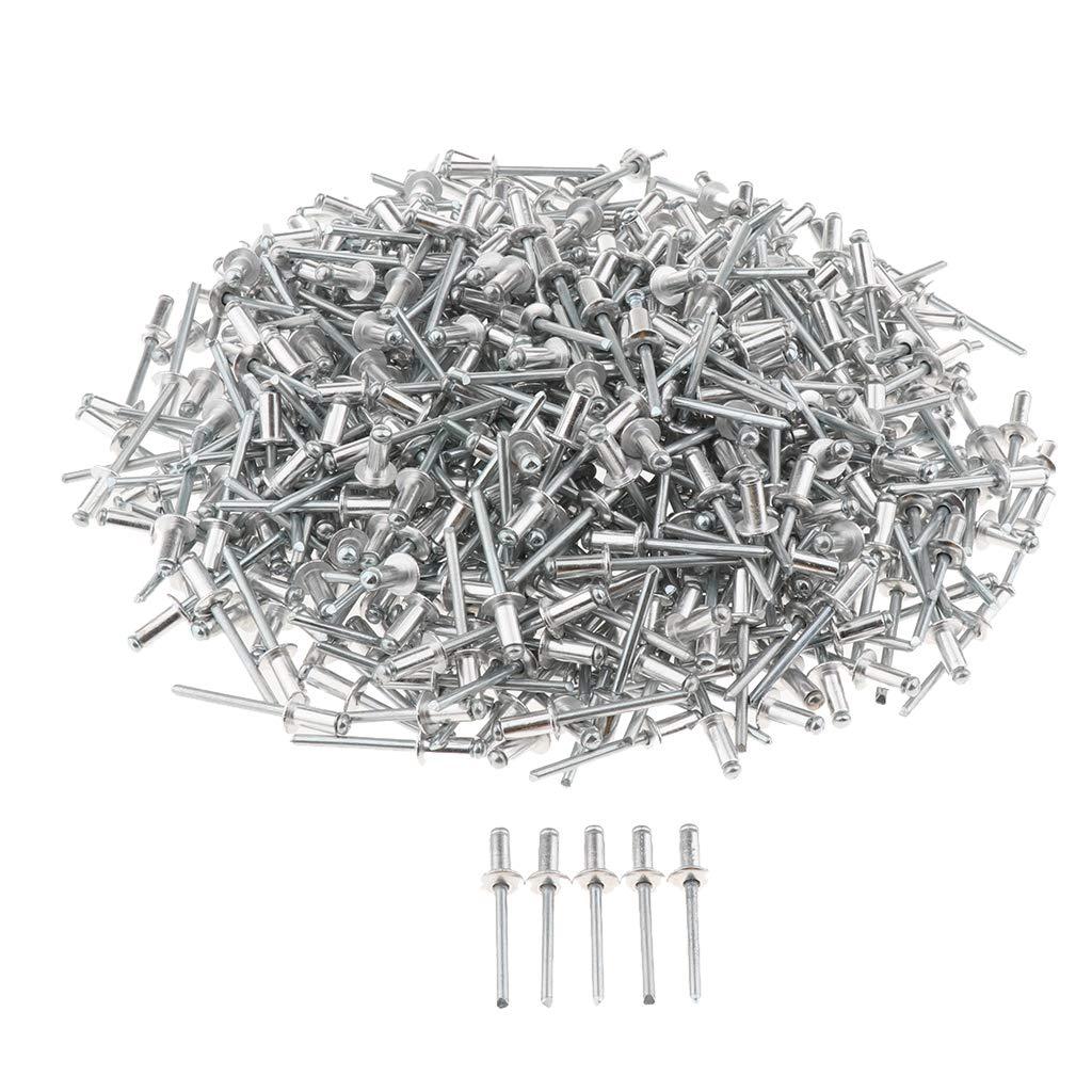 Silber 5x10mm perfk 500er Packung Edelstahl Blindniete mit offenem Ende Befestigungssatz 4mm Durchmesser Edelstahlniet
