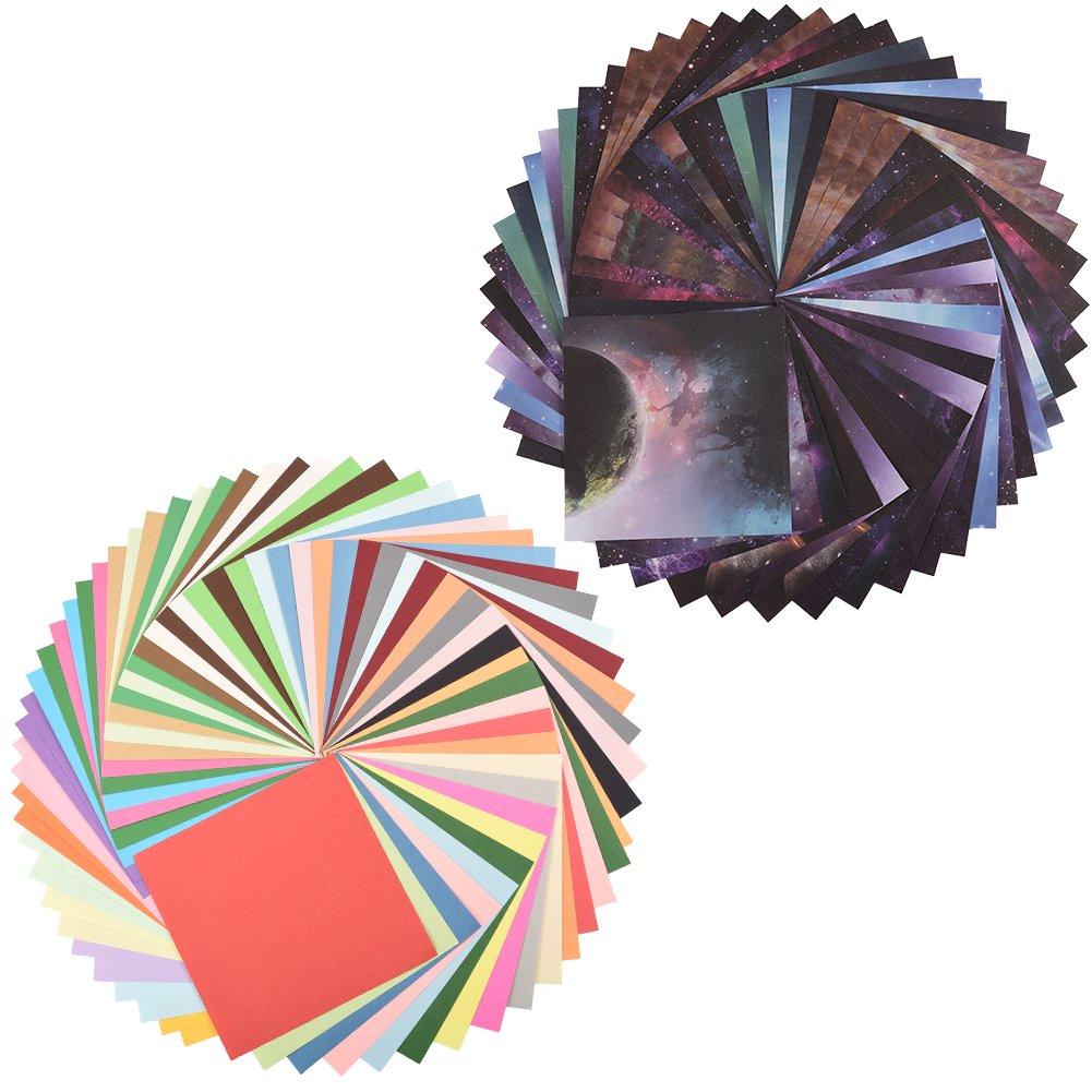 Cizen Carta per Origami, 170 Fogli Colori Assortiti per Fai Da Te Decorazione Pittura - 15cm x 15cm