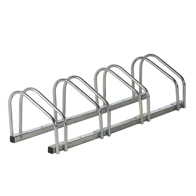 Fahrradstä nder 4Rä der Metall 100cm Fahrradhalter Bodenstä nder Wand-Bodenmontage Bicycle Gear