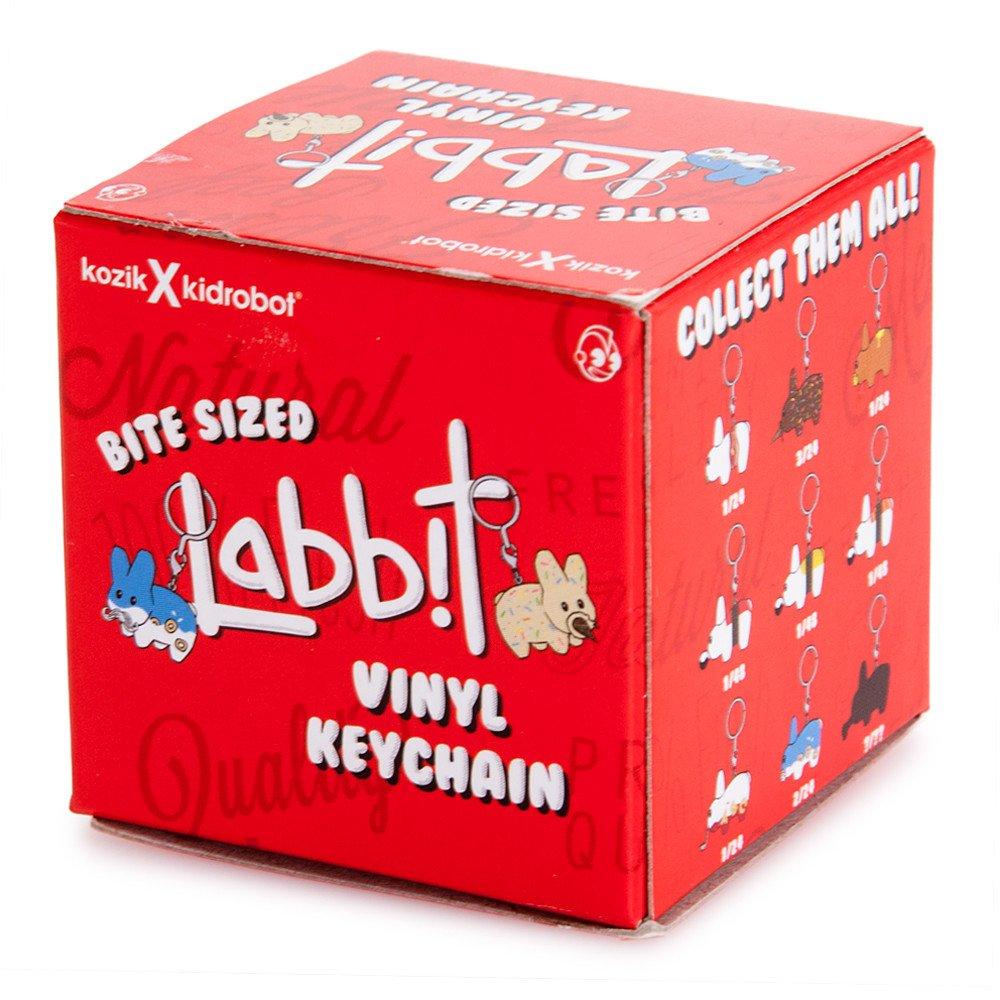 One Blind Box Bite Sized Labbit Keychain Vinly Figure Kodzik X Kidrobot