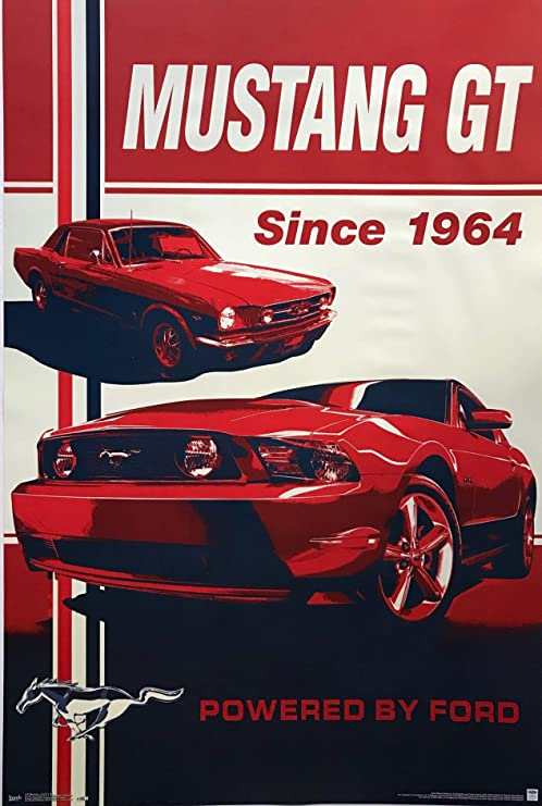 "SHELBY COBRA GT 500 BLACK MUSTANG FORD 43/"" x 24/"" LARGE WALL POSTER PRINT NEW"