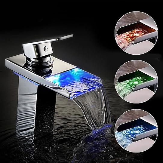 robinet lavabo cascade led. Black Bedroom Furniture Sets. Home Design Ideas