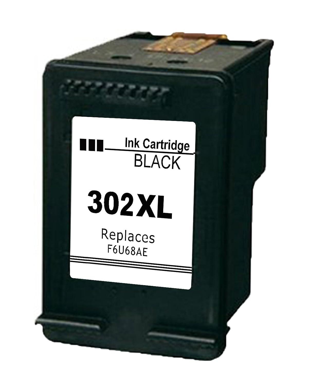 Daryo HP 302 xl refabricado Negro impresora tinta nuevo chip con nivel de tinta para HP Officejet 3830 3800 Series 4650, HP Envy 4520, 5540, HP ...