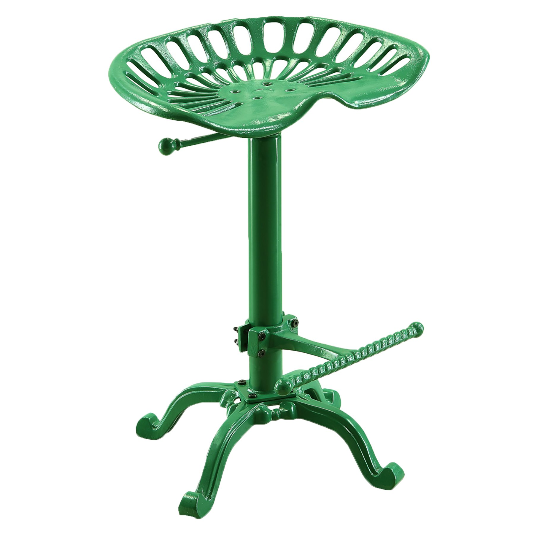 Carolina Chair and Table Adjustable Seat Stool, Novelty, Tractor Green by Carolina Chair & Table
