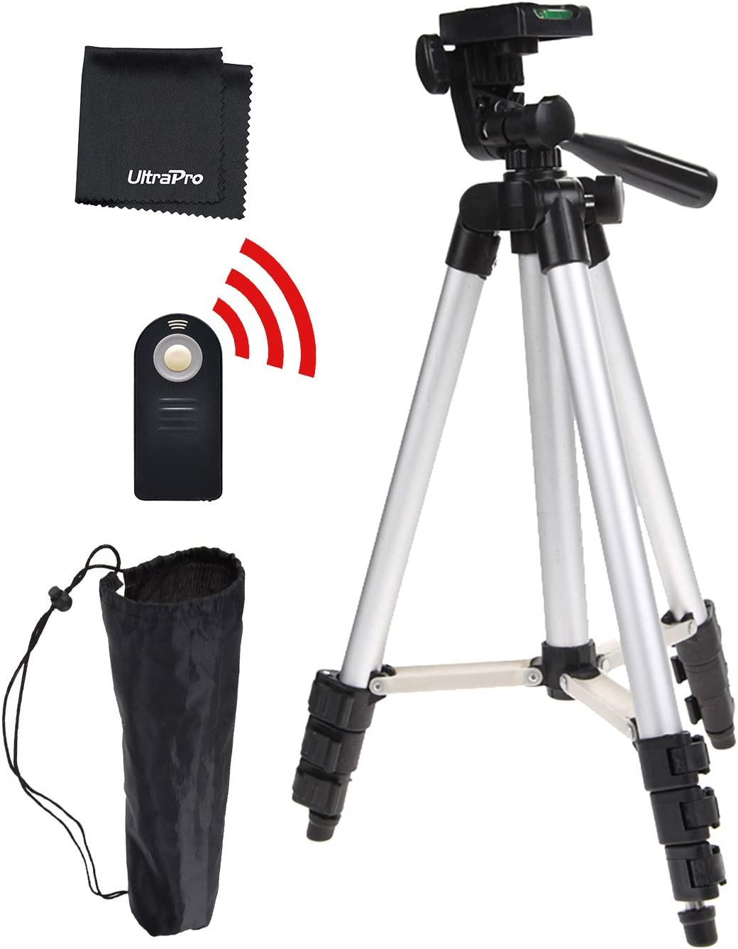 Wireless Remote Bundle for Canon Digital Cameras Includes UltraPro Bonus Microfiber Cleaning Cloth UltraPro 50 Inch Full Size Aluminum Camera Tripod