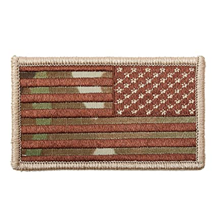 Amazon.com  American Reverse Flag Patch With Hook And Loop Back ... 09f01d889