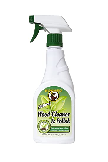 Howard WC5012 Wood Cleaner And Polish, 16 Ounce, Lemongrass Lime