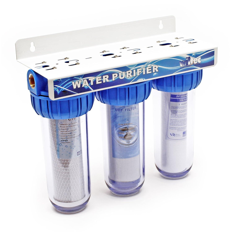 Naturewater NW-BR10B4 3-etapa filtro 1,27 cm (mm 20,67) filtro de sedimentos, bloque de carbó n activo, llave bloque de carbón activo WilTec