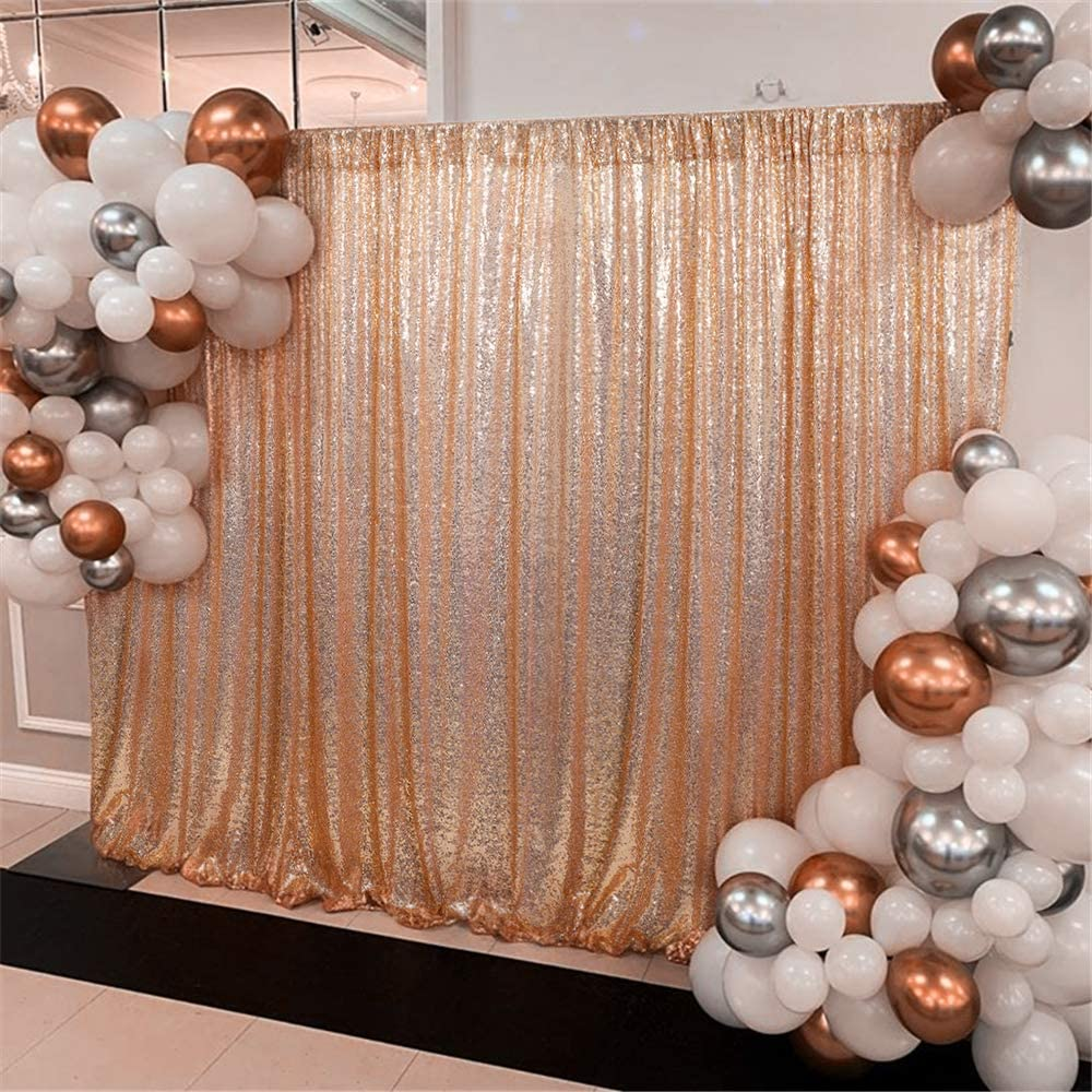 Rose Gold Sequin Backdrop 7ft x 7ft Sequin Photography Backdrop Curtain Wedding Backdrop Party Bridal Shower Decor