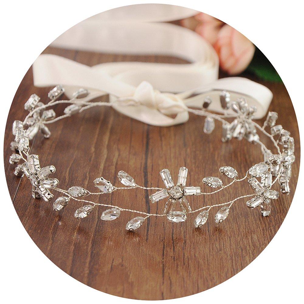 THK-Wedding Gold or Sliver Wedding Headband Bridal Hairband Wedding Hair Accessory for Bride HNYOULA