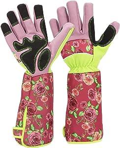 Gardening Rose Pruning Gloves Women, Katfort Garden Gloves for Women Thorn Proof Gardening Gloves with Long Cuff Forearm Protection
