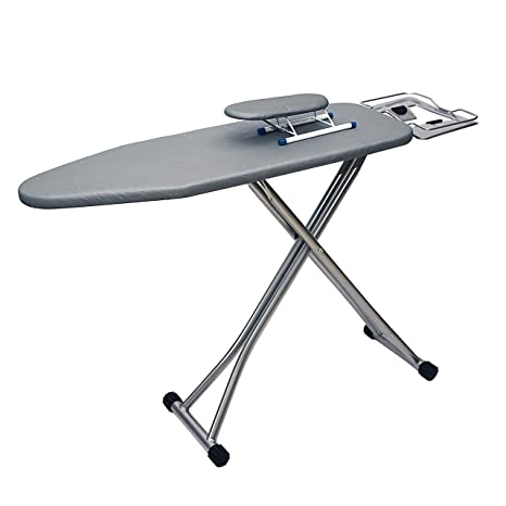28.7-33.4 inch Table for Ironing Clothes Tabletop Ironing Board with Fixed Sleeve Tabletop Folding Legs Folding Ironing Board with Cotton Cover Ironing Board 43 L x 11.8 W Adjustable Height