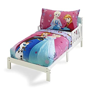Amazoncom Frozen Bedding Set 4 Piece Girl Toddler Bed Set Anna