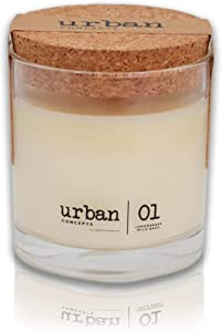 DECOCANDLES Urban Concepts Tranquility - Lemongrass & Wild Basil - Highly Scented Candle - Long Lasting - Hand Poured in The USA - Signature Scent for The Amanyara Resort Turks & Caicos - 6.7 Oz.