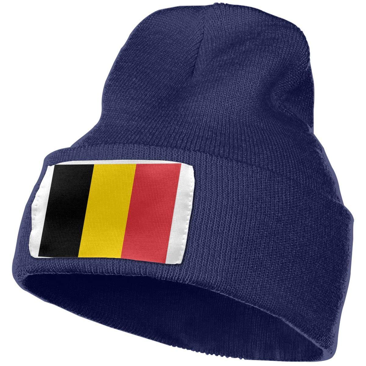 QZqDQ Flag of Belgium Unisex Fashion Knitted Hat Luxury Hip-Hop Cap