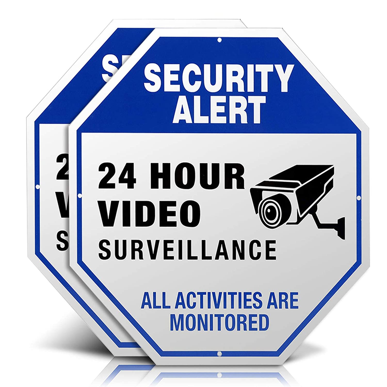 Video Surveillance Signs, Aluminum 12