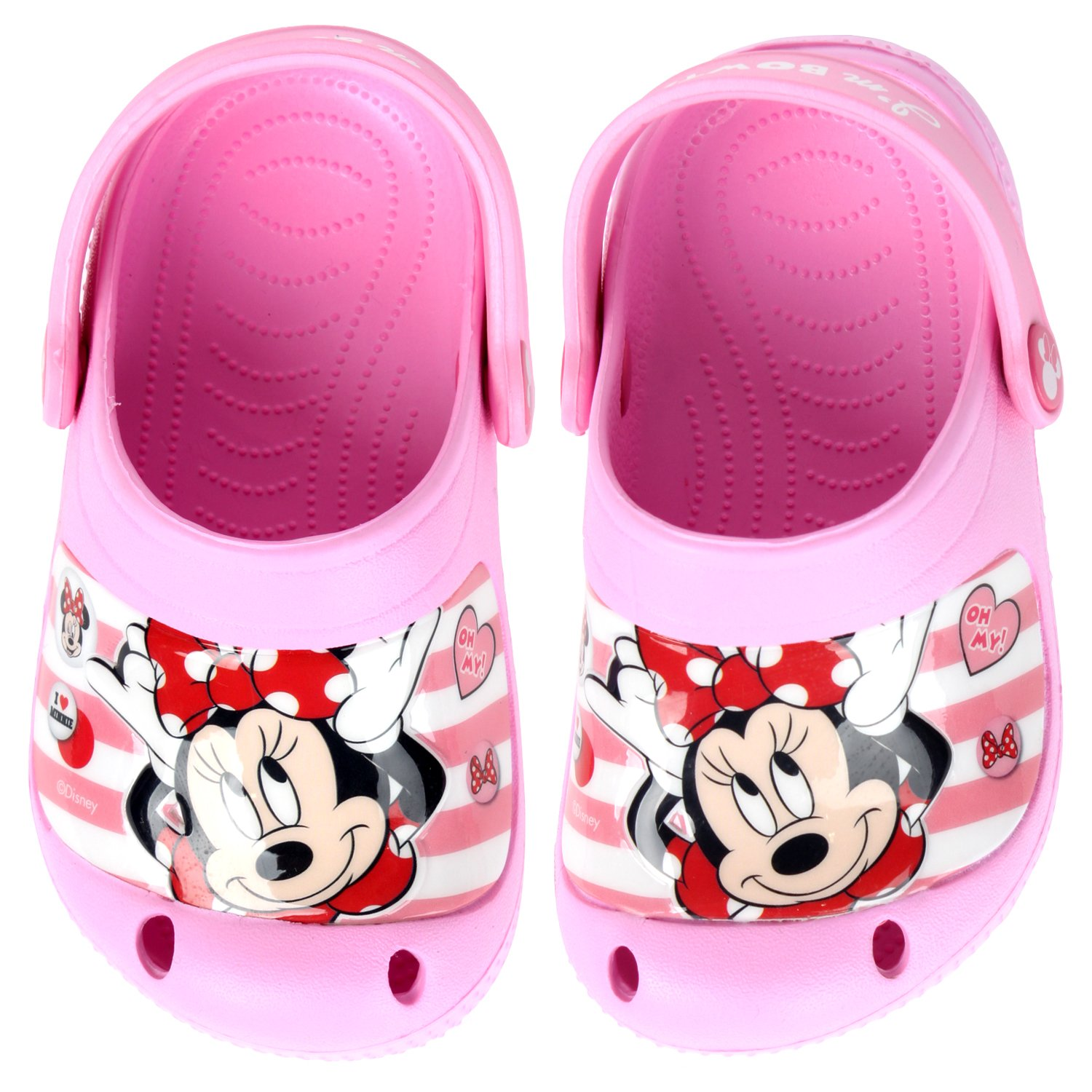 Disney Minnie Mouse Bowtiful Girl's Pink EVA Sandals (Parallel Import/Generic Product) (8 M US Toddler)