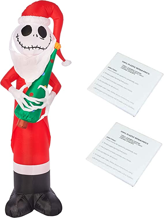 Nightmare Before Christmas Jack Sally Gemmy Airblown Inflatable Set 3.5 ft Tall