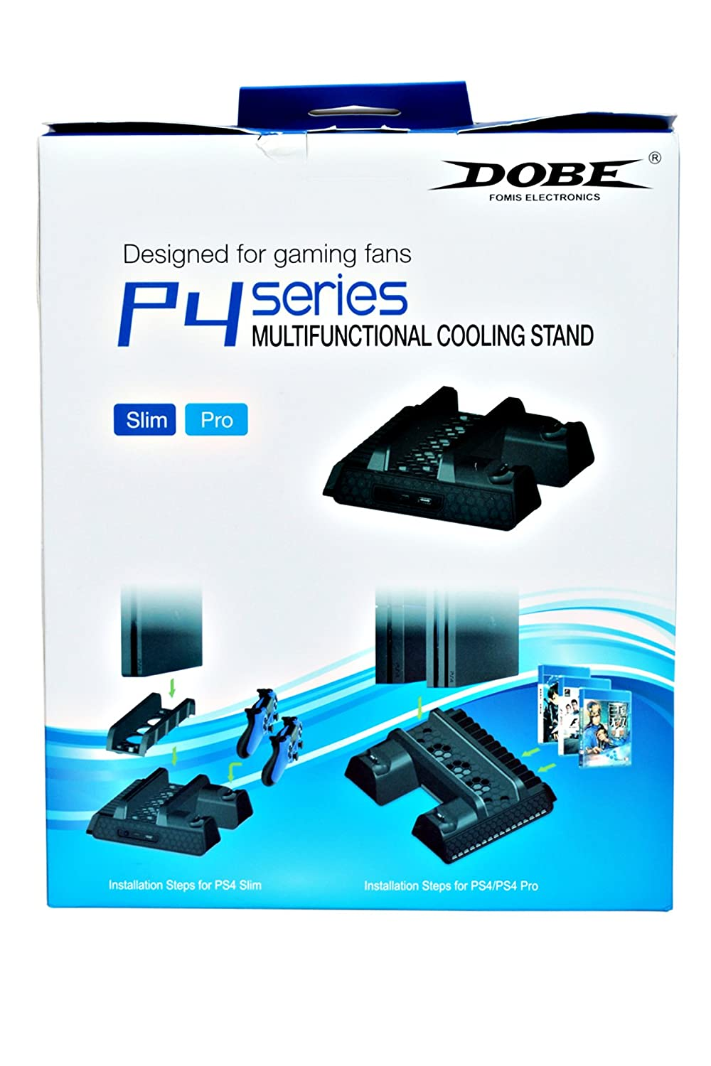 Buy New World Ps4 Slim Pro Multifunction Console Vertical Stand Dobe Dual Charging Dock With Cooling Fan And Disc Black Online At Low Prices In India