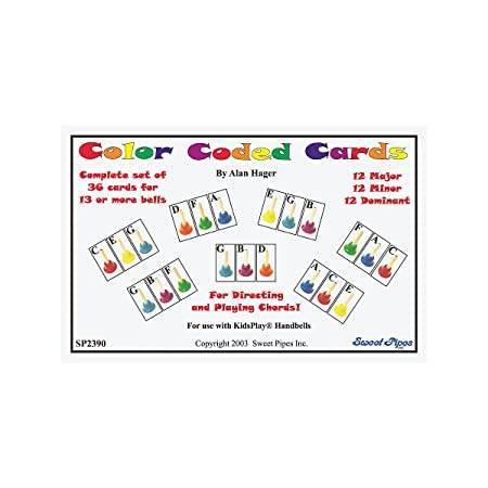 Amazon Rhythm Band Color Coded Handbell Cards36 Chords Rhythm