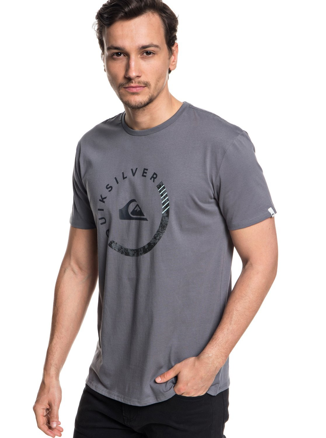 Quiksilver Men's Logo Tee Shirt, Slab Session Quiet Shade, M by Quiksilver (Image #2)
