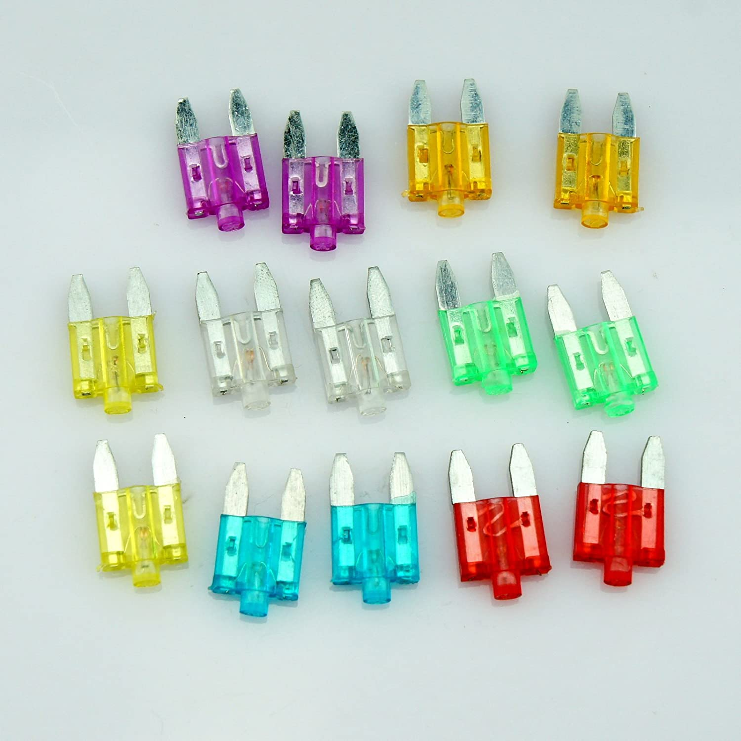 14 Car Vehicle ATS Blade Fuse Assortment Kit With Status LED Glow Blow 5A 10A 15A 20A 25A 30A 35A