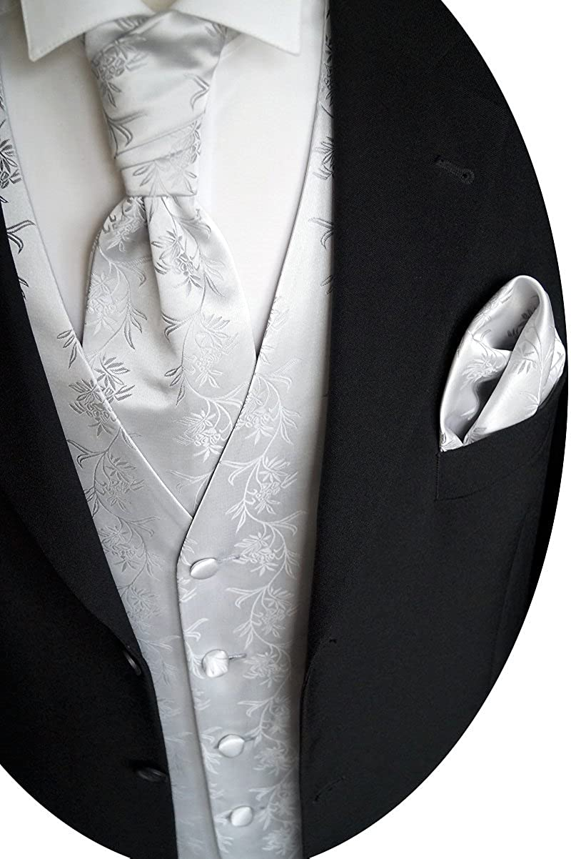 beytnur boda Chaleco con Plastron, toalla de inserción y corbata nº 5.2Talla 44–114 W 5.2 Größe: 44 -114