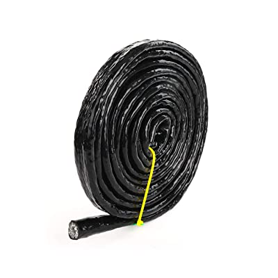 "1/2"" ID Silicone Coated Fiberglass Heat Shielded Fire Sleeve for Hose Lines & Electrical Wiring, 1/2 ID, 5 Feet (12.7mm ID): Automotive"