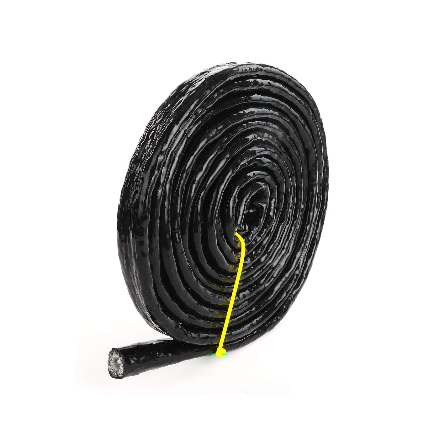 3//8 ID Silicone Coated Fiberglass Heat Shielded Fire Sleeve for Hose Lines /& Electrical Wiring 10 Feet 3//8 ID