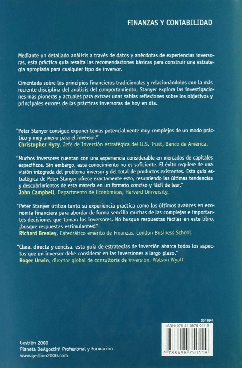 Guía de estrategias de inversión: Entender mercados, riesgos, ganancias y comportamientos: Amazon.es: Peter Stanyer: Libros
