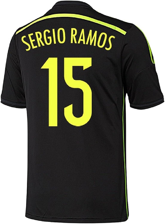Adidas Spain Soccer World Cup 2014 Away Official Black T-Shirt Football $50 MSRP