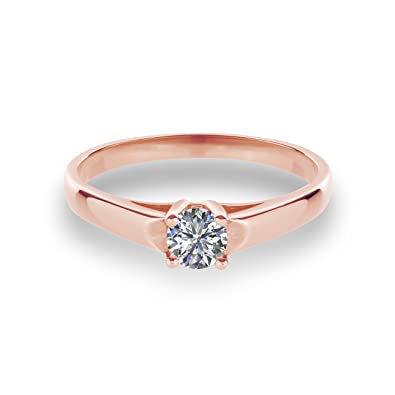 8d1b635e2b25f Engagement Ring Red Gold with Swarovski VJC14 585 Gold: Amazon.co.uk ...