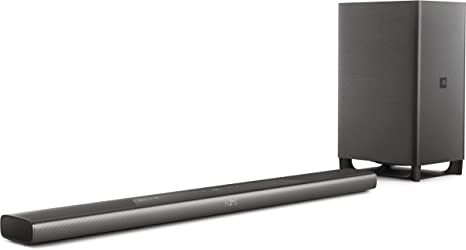 Philips Audio Fidelio B8 - Barra de Sonido Dolby Atmos y subwoofer inalámbrico, Color Negro