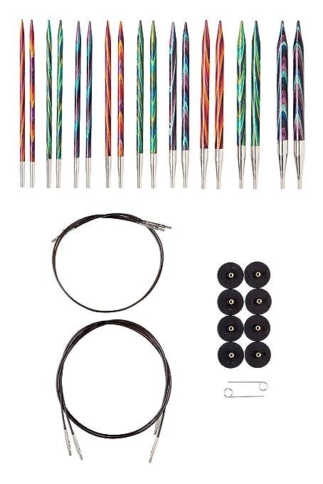 Knit Picks Options Wood Interchangeable Knitting Needles Set Us 4 11 Mosaic