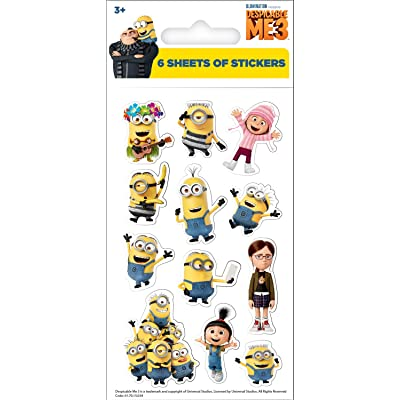Paper Projects 01.70.15.034 Universal Despicable Me 3 Party Pack of Stickers: Toys & Games