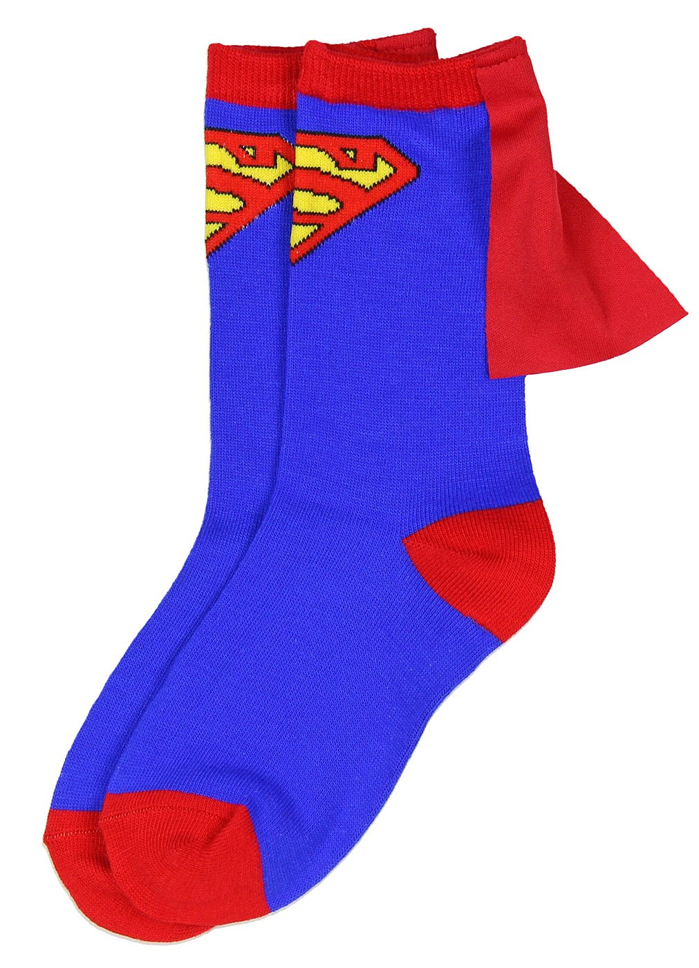 DC Comics Superhero Batman Superman The Flash Youth Boys Caped Crew Socks