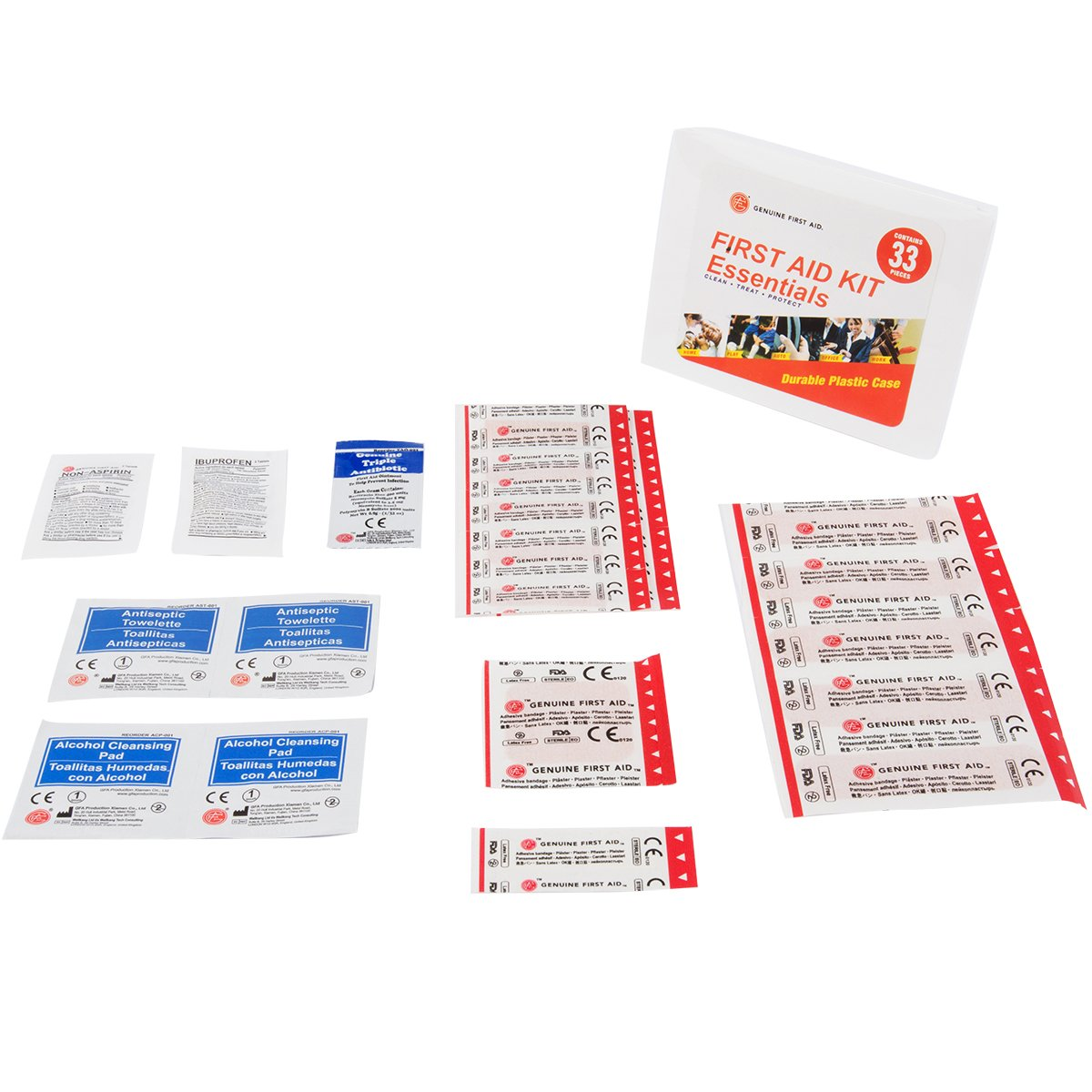 Amazon.com: Essential First Aid Items - 33 items included: Health & Personal Care