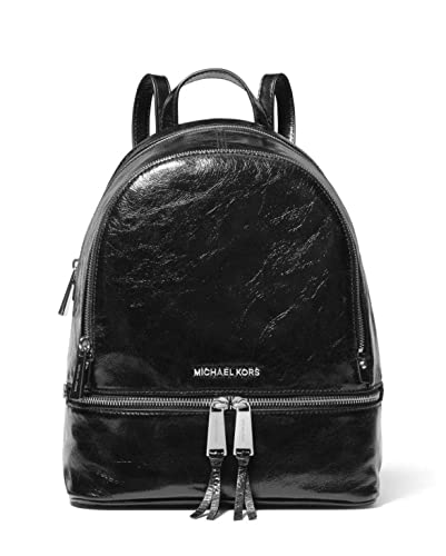 955a64d6b41c0 Amazon.com  MICHAEL Michael Kors Rhea Medium Crinkled Calf Leather Backpack  in Black  Shoes