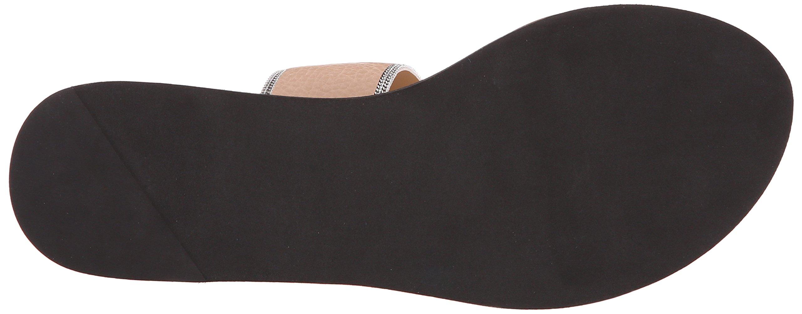 Delman Women's D-Una-V Slide Sandal, Sand Dune Vachetta/Fine Chain, 9.5 M US by Delman (Image #3)