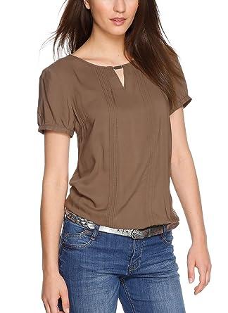 Damen Bluse Kurzarm, Braun, Gr. 36, s.oliver *sehr gut*