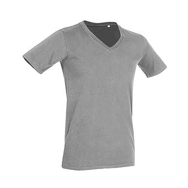 Stars By Stedman Dean Herren T-Shirt, tiefer V-Ausschnitt, Kurzarm (