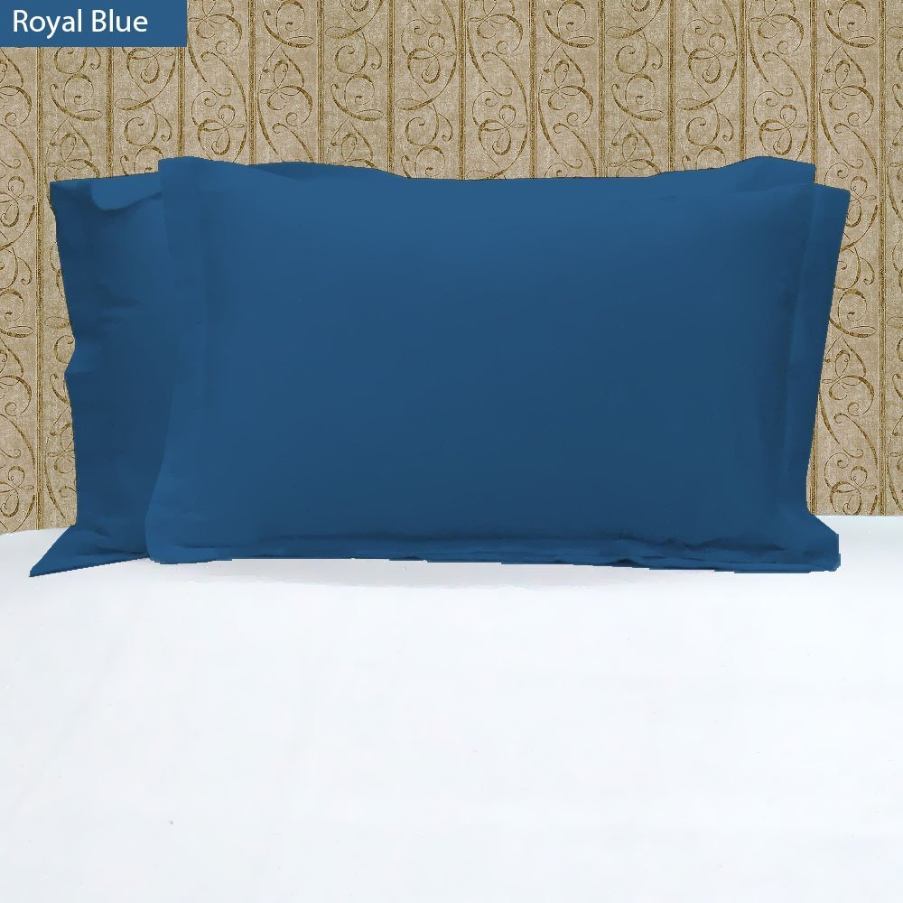 VEGAS HOTEL COLLECTION Heavy Egyptian Cotton 2-PC Pillow Cases Nice Solid Looking ( California King ) 1000-Thread-Count ( Royal Blue Color )