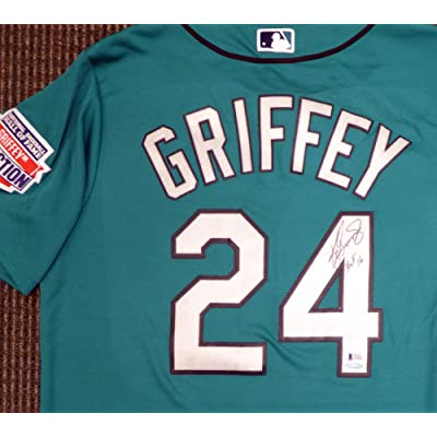 official photos 3f226 54933 Seattle Mariners Ken Griffey Jr. Signed Teal Majestic Jersey ...
