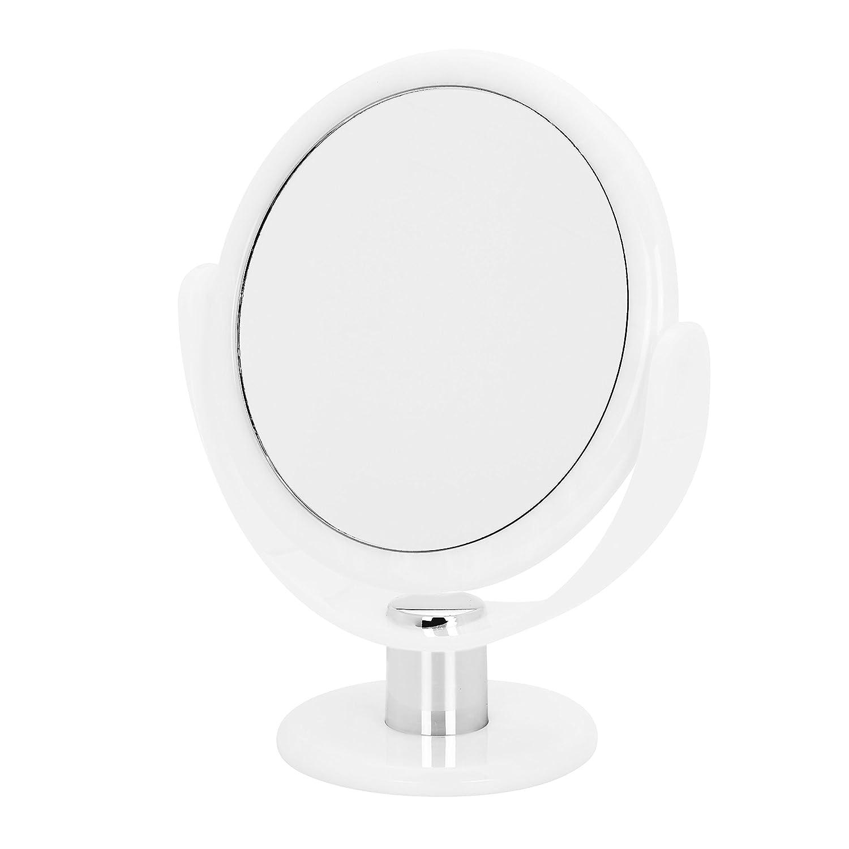 17cm Swirl Round Vanity Mirror x 10 mag/true image, Blue Danielle Creations D1068DB