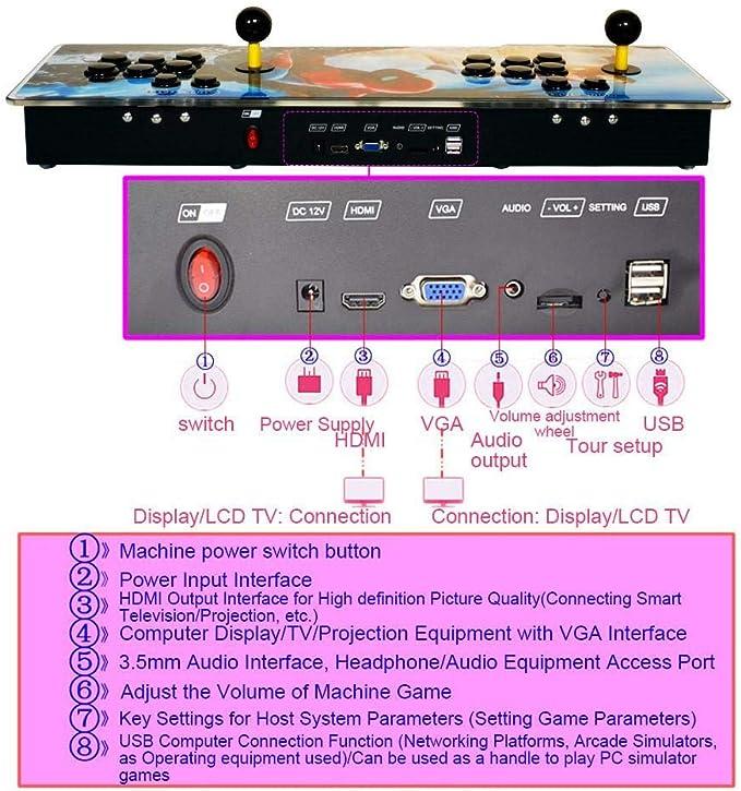 Funihut Pandora Box 2200 en 1 Consola de Videojuegos Pandora Box ...
