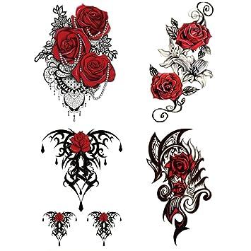 Amazon.com: Yesallwas 4 Sheets Large Temporary Tattoo Sticker Fake ...