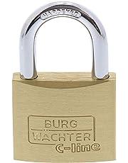 BURG-WÄCHTER Vorhängeschloss, 2er-Set, 6 mm Bügelstärke, 4 Schlüssel, Duo 222 40 SB