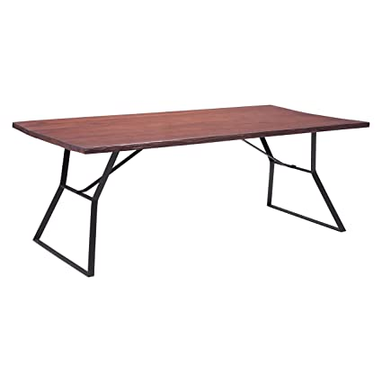 Omaha Distressed Cherry Oak Dining Table with Metal Legs Dining Table Oak  Leaves 4 Chairs C - Amazon.com - Omaha Distressed Cherry Oak Dining Table With Metal