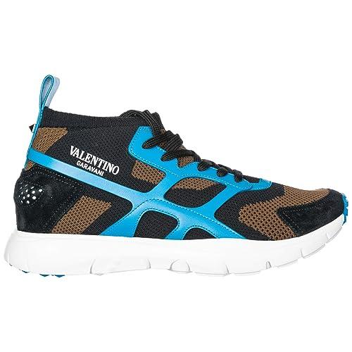 Valentino Zapatos Zapatillas de Deporte Hombres Negro: Amazon.es: Zapatos y complementos
