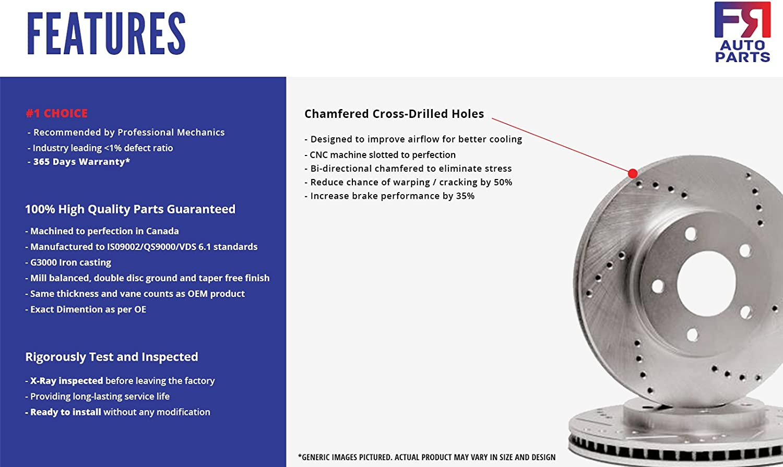 2 Cross-Drilled Disc Brake Rotors Front Rotors High-End 5lug X5